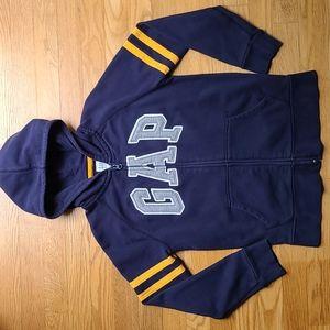 Size 10 kid Gap logo hooded sweatshirt